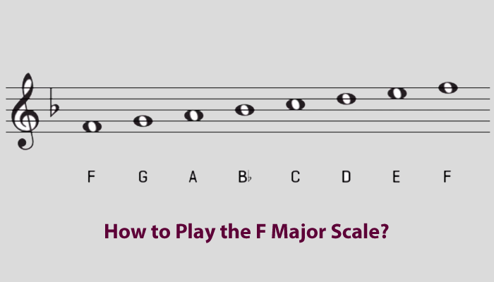 How to play f major scale